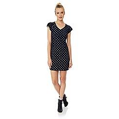 Yumi - Lace polka dot bodycon dress