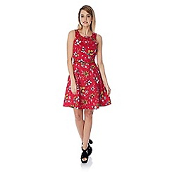 Yumi - Floral nature print skater dress