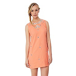Yumi - Embellished cut-out shift dress