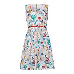 Yumi - Flora and fauna postcard dress