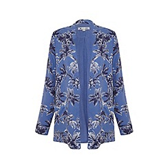 Yumi - Blue palm print blazer