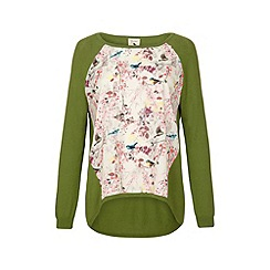 Yumi - Eastern bird print jumper.