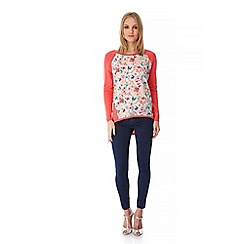 Yumi - Pink Butterfly and Floral Print Jumper