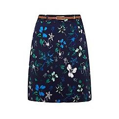 Yumi - Floral print wrap skirt
