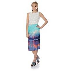 Yumi - Mountain print midi skirt.