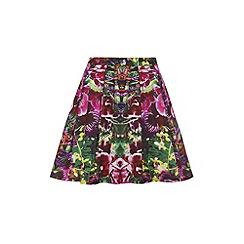 Yumi - Jungle print skater skirt