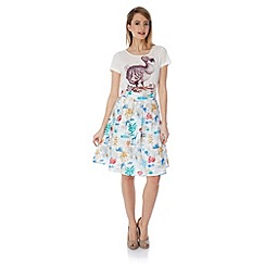 Yumi - Flora and fauna postcard skirt