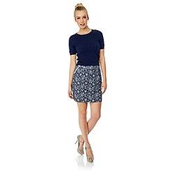 Yumi - Chambray floral skirt