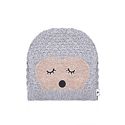Yumi - Grey knitted hedgehog hat