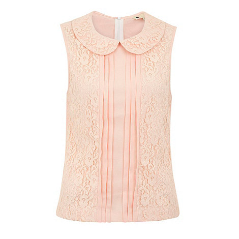 Yumi - Lace panel blouse