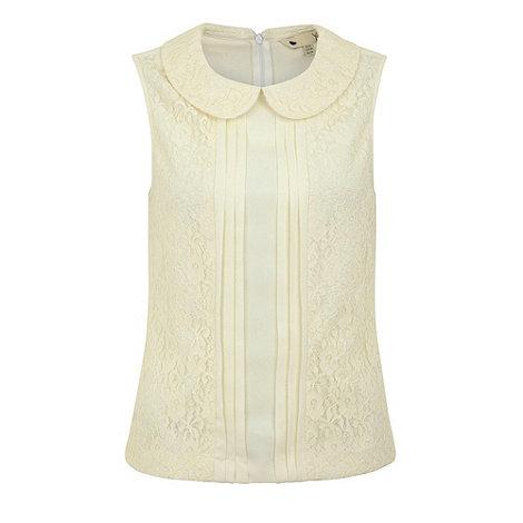 Yumi - Lace panel blouse