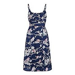 Uttam Boutique - Navy Bird print dress