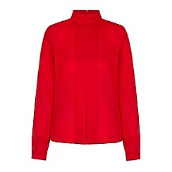Yumi - Red Tux Pleated Shirt