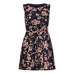 Yumi - Blue Jasmine Print Day Dress