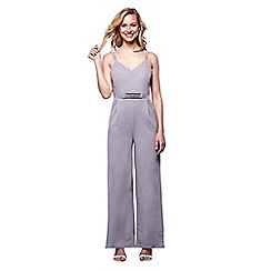 Yumi - Grey belted jumpsuit