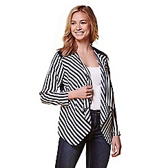Yumi - Multicoloured Stripe Zip Jacket