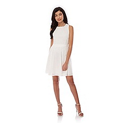 Yumi - White Lace Skater Dress