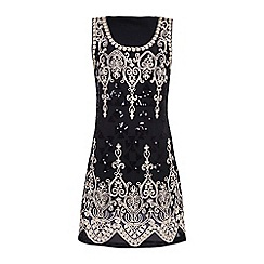 Yumi - Black Embellished Party Dress