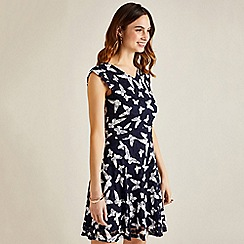 Yumi - Blue butterfly day dress