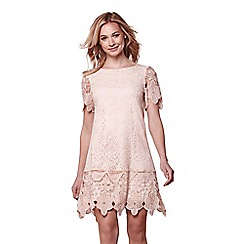 Yumi - Pink yumi lace overlay dress
