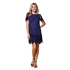 Yumi - Navy yumi lace overlay dress