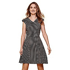 Yumi - Multicoloured polka dot skater dress