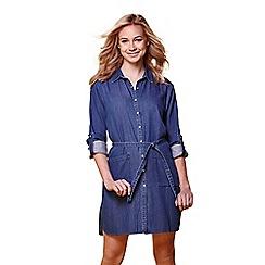 Yumi - Dark blue denim shirt dress