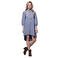 Yumi - Blue floral denim dress