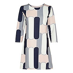 Yumi - Multicoloured abstract print shift dress