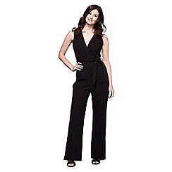 Yumi - Black draped jumpsuit