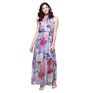 Yumi Multicoloured floral print maxi dress