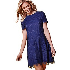 Yumi - Navy lace detail dress