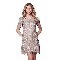 Yumi - Grey lace detail dress