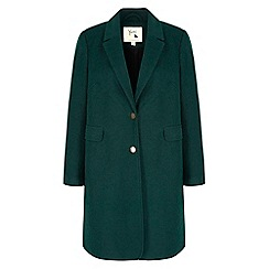 Yumi - Green Long Boyfriend Coat