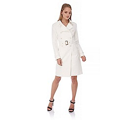 Yumi - White Classic Mac Trench Coat
