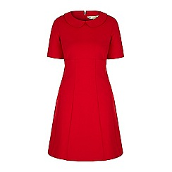 Yumi - Red collar shift dress