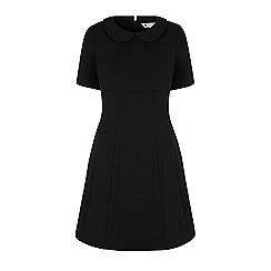 Yumi - Black collar shift dress