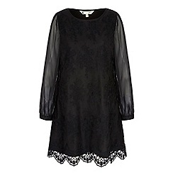 Yumi - Black lace tunic dress