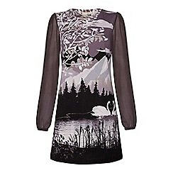 Yumi - Trees and swans tunic