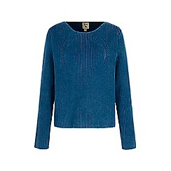 Yumi - Blue Ribbed Jumper