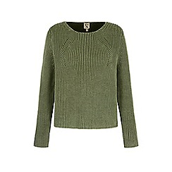Yumi - Green Ribbed Jumper