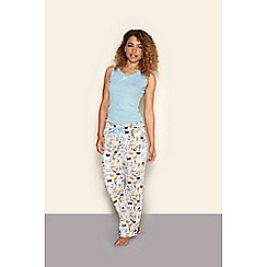 Yumi - Blue cat print pyjamas