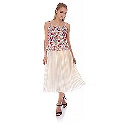 Yumi - Multicoloured  Prairie Poppy Print Camisole Top