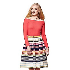 Yumi - Multicoloured stripe skirt