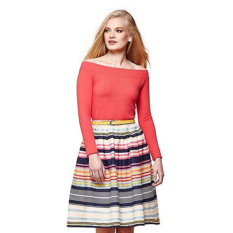 Yumi - Multicoloured stripe skirt