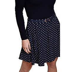 Yumi - Blue anchor belted skirt