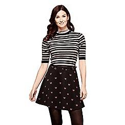 Yumi - Black cat print skirt