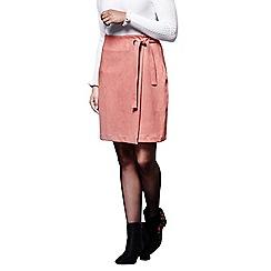 Yumi - Orange mini wrap skirt