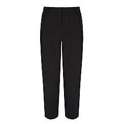 Yumi - Black Peg Leg Trousers