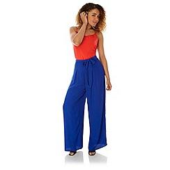 Yumi - Blue Palazzo Trousers